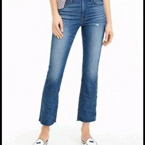 J Crew Cali Demi Boot Cropped Jeans